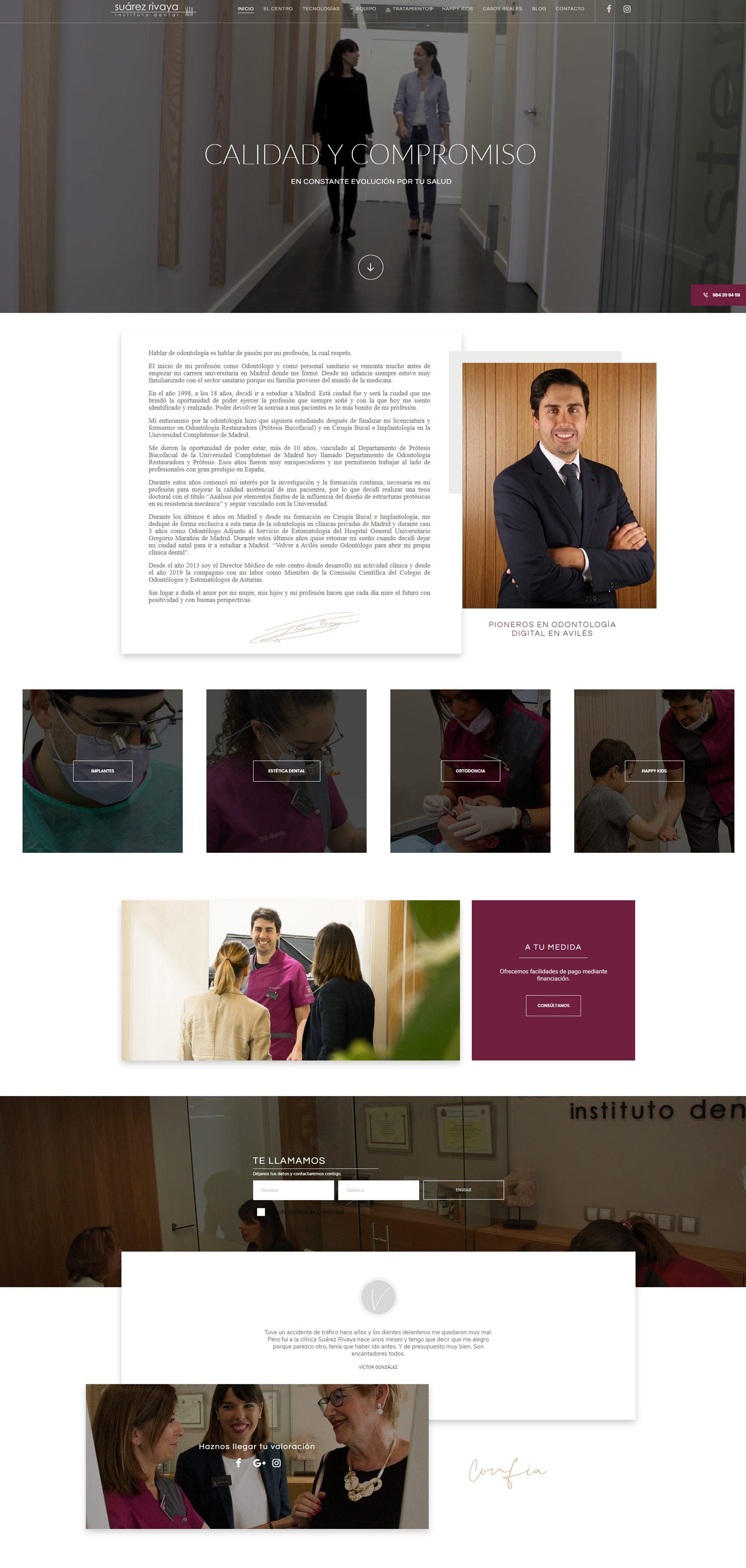 Diseño web de clinica dental